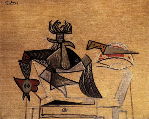 Pablo Picasso. Cock with a knife