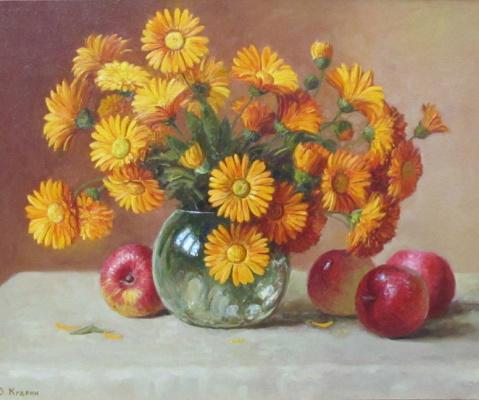 Yuri Viktorovich Kudrin. Flowers and apples. 2007