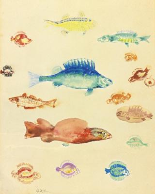 Odilon Redon. Fish