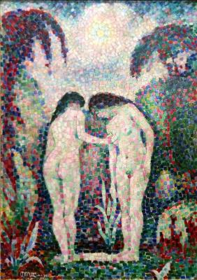 Jean Metzinger. Two Nudes in a garden
