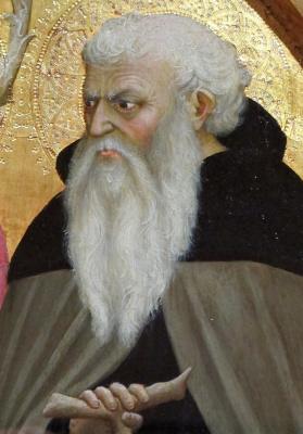 Tommaso Masaccio. Saint Juvenal in monastic robes. Triptych San Jovenale