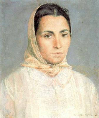 Антонио Лопес Гарсия. Женщина в платке