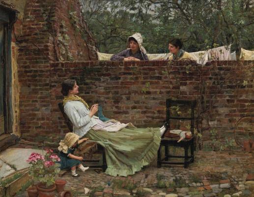 John William Waterhouse. Good neighbors (Gossip girl)