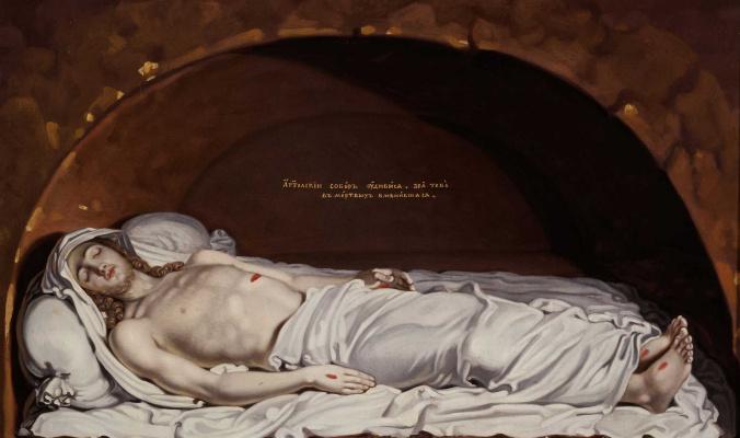Vladimir Lukich Borovikovsky. Christ in the tomb