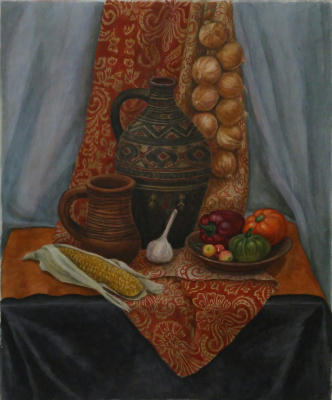Lyudmila Kachur. Still life with ornaments