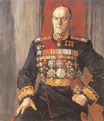 Pavel Dmitrievich Korin. Georgy Konstantinovich Zhukov