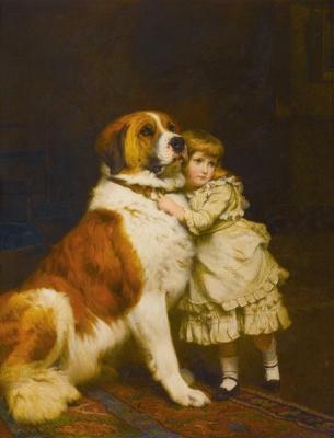 Чарльз Бертон Барбер. Girl With Dog