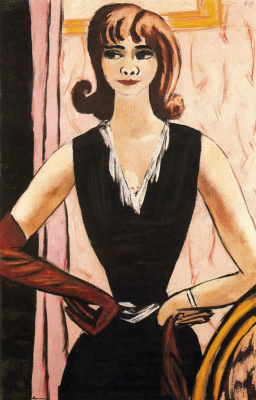 Max Beckmann. Girl in black dress