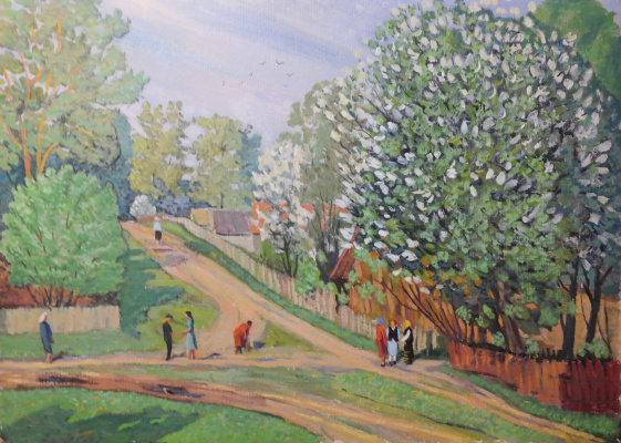 Valery Sergeevich Semenov. Cherry in bloom