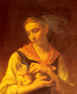 Эмиль Мюнье. Любимый котенок