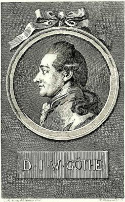 Даниэль  Николай Ходовецкий. Портрет Иоганна Вольфганга Гёте