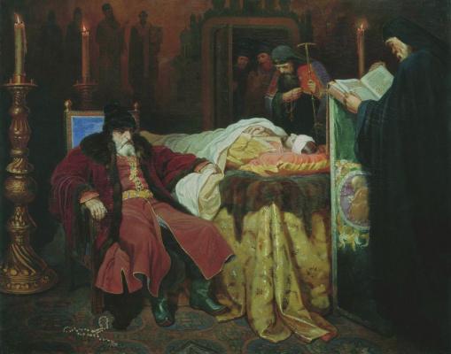 Вячеслав Григорьевич Шварц. Иоанн Грозный у тела убитого сына