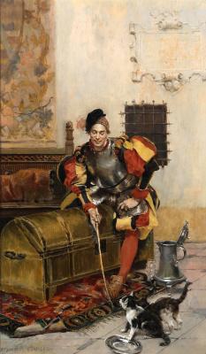 Франсуа Фламенг. Забавляющийся кавалер