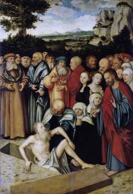 Lucas Cranach the Elder. The Resurrection of Lazarus