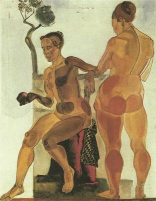 Alexander Alexandrovich Deineka. Two artist's models