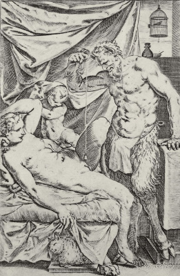 "Agostino Carracci. The series of ""Sensuality"", the So-called ""House of satire"""
