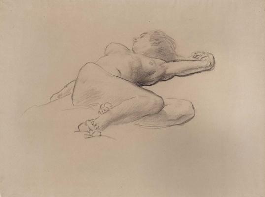 "John Singer Sargent. Sketch for ""satin and Hesperide"". Hesperida"