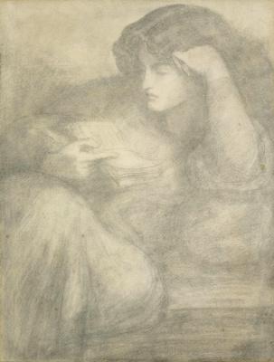 Dante Gabriel Rossetti. Jane Morris reading