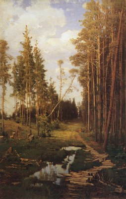 Alexey The Kondratyevich Savrasov. A clearing in the pine forest