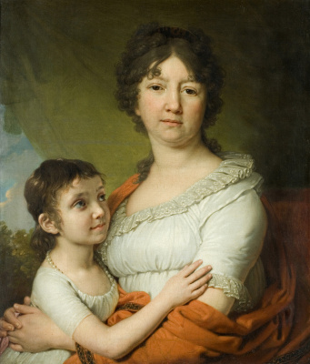 Vladimir Lukich Borovikovsky. Portrait of A. E. Labzina with a pupil of S. A. Mudrova