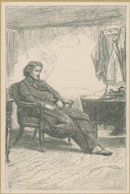 John Everett Millais. Reflections behind the receiver. Illustration for the works of Anthony Trollope