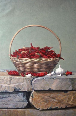 Savely Kamsky. Basket with hot pepper and garlic