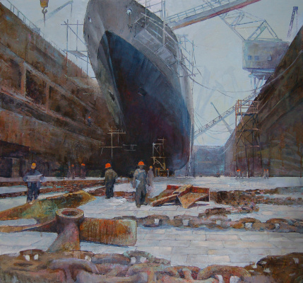 Кристина Ровная. The ship in dry dock