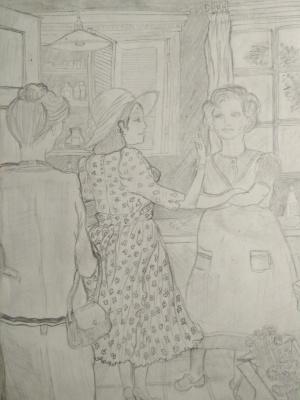 N. Stepi. Рисунок карандашом
