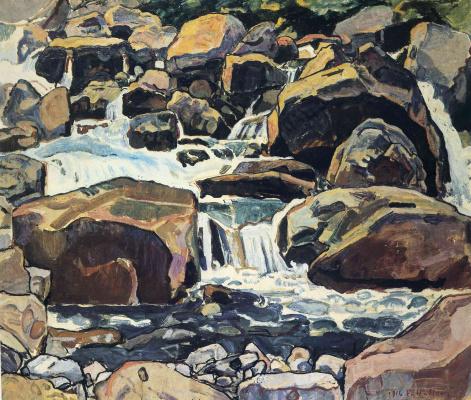 Ferdinand Hodler. Mountain stream at Champery
