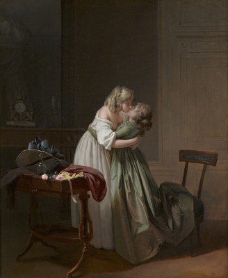 Louis-Leopold Boi. Two Young Women Kissing