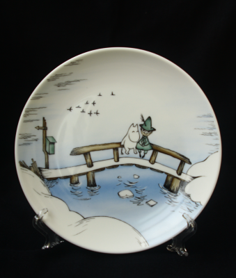 "(no name). Decorative plate ""Moomin Trolly"""
