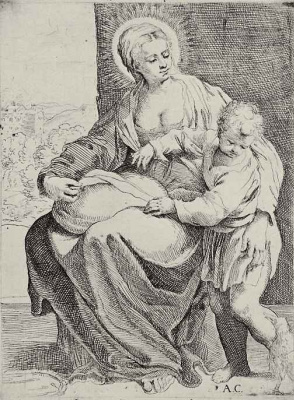 Annibale Carracci. Madonna with cushion