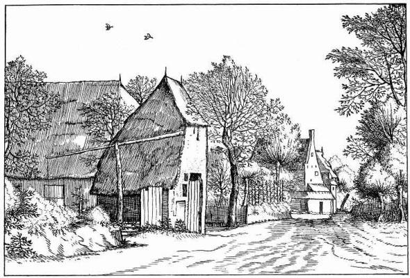 "Pieter Bruegel The Elder. The series ""Small landscapes"". Landscape # 4"