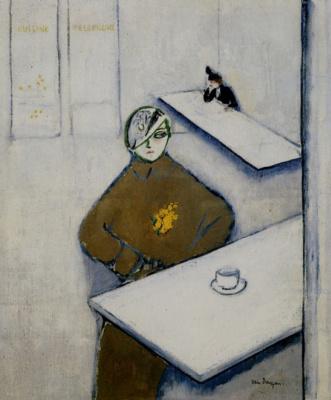 Kees Van Dongen. The ladies in the cafe