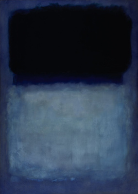 Rothko Mark. Untitled (Green on blue)