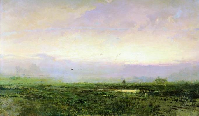 Fedor Alexandrovich Vasilyev Russia 1850 - 1873. Landscape. Morning. 1871-1873