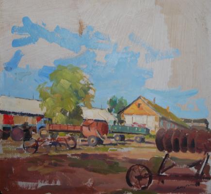 Karel Mikhailovich Yakubek. Collective farm yard
