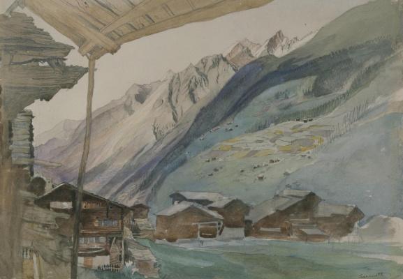 Джон Рёскин. Деревня Церматт, Швейцария