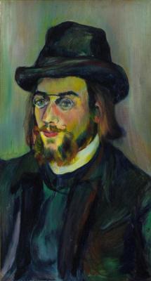 Suzanne Valadon. Portrait of composer Eric Satie