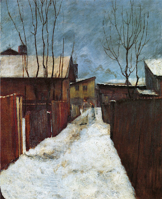 Harald Oskar Sohlberg. Cold weather