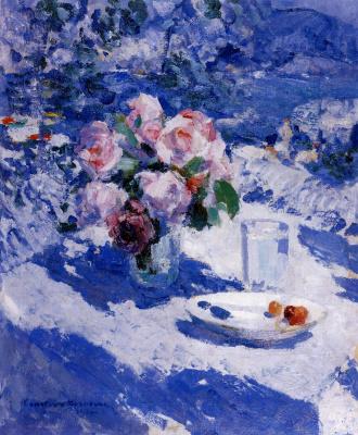 Konstantin Korovin. Roses on the terrace. Crimea