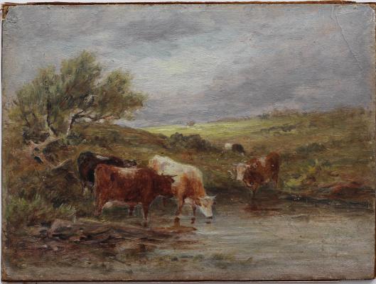 Камиль Коро. Коровы у берега