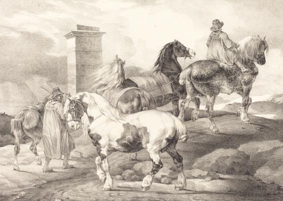 Théodore Géricault. To horse fair