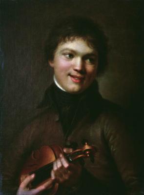 Alexander Grigorievich Varnek. Violinist. State Tretyakov Gallery, Moscow