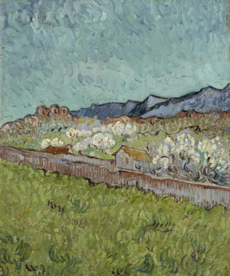 Vincent van Gogh. At the foot of the mountains