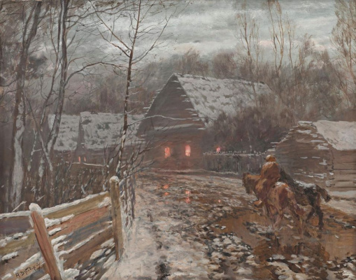 Nikolay Nikanorovich Dubovsky. November evening