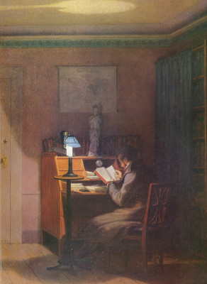 Georg Friedrich Kersting. The attentive reader