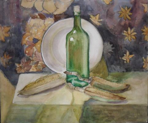 Натюрморт с кукурузой