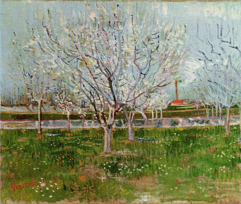 Vincent van Gogh. Orchard in bloom
