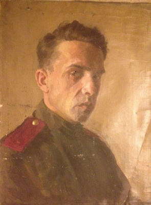 Unknown artist. Portrait of a soldier. Canvas/m